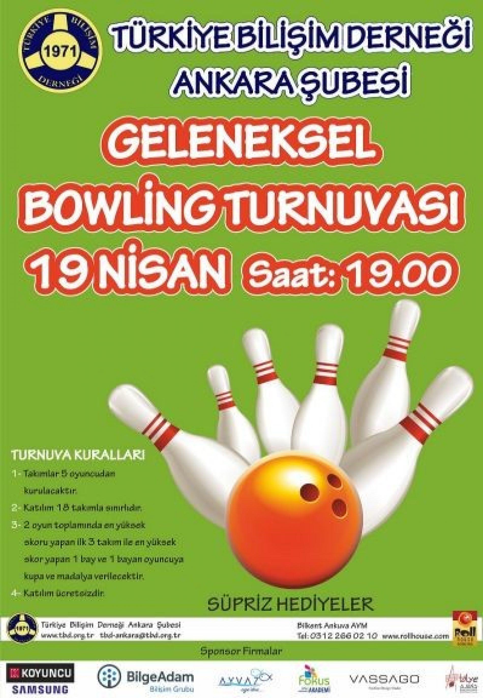3. Geleneksel Bowling Turnuvası yapıldı