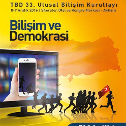 33. Ulusal Bilişim Kurultayı Bildiriler Kitabı Yayınlandı