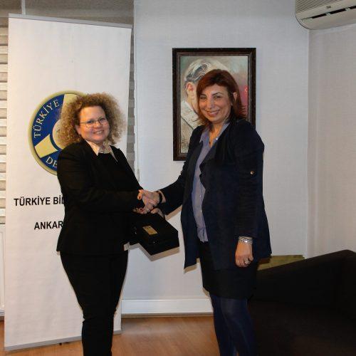 İsrail Büyükelçiliği Elçi-Müsteşarı  Shani Cooper-Zubida'nın TBD'ye Ziyareti