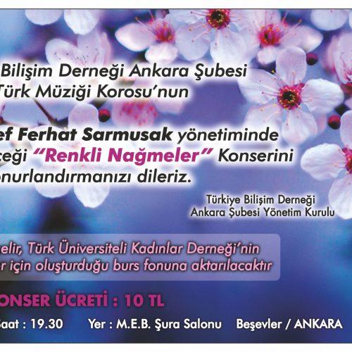 """TBD Ankara Şubesi """"Renkli Nağmeler"""" Korosu"""