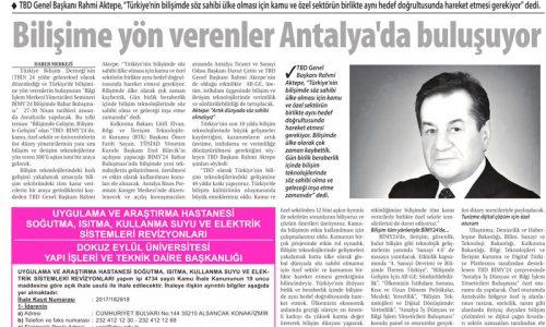 Bilişime Yön Verenler Antalya'da Buluşuyor – Ticaret