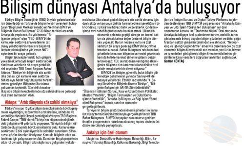 Bilişim Dünyası Antalya'da Buluşuyor – İleri Antalya