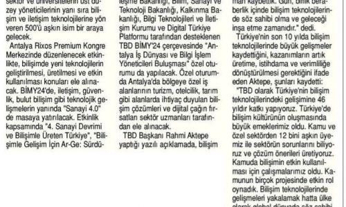 Bilişimciler Antalya'da Buluşuyor – Son Saat