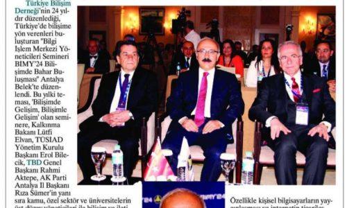 Kalkınma Bakanı Lütfi ELVAN 'Bilişimde Bahar Buluşması'na Katıldı – Antalya İleri