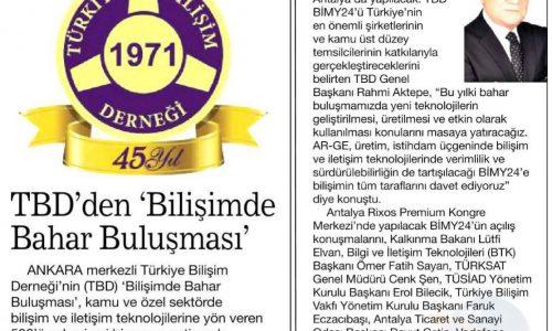 TBD'den Bilişimde Bahar Buluşması – Habertürk Ankara