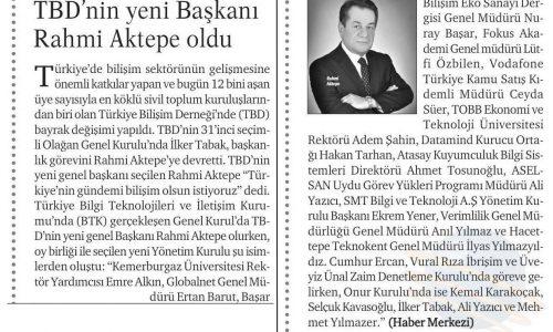 TBD'nin Yeni Başkanı Rahmi AKTEPE Oldu – Hürses