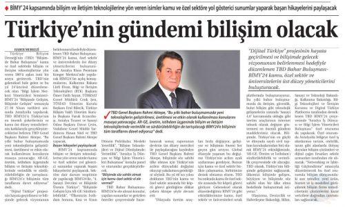 Türkiye'nin Gündemi Bilişim Olacak – Ticaret Gazetesi