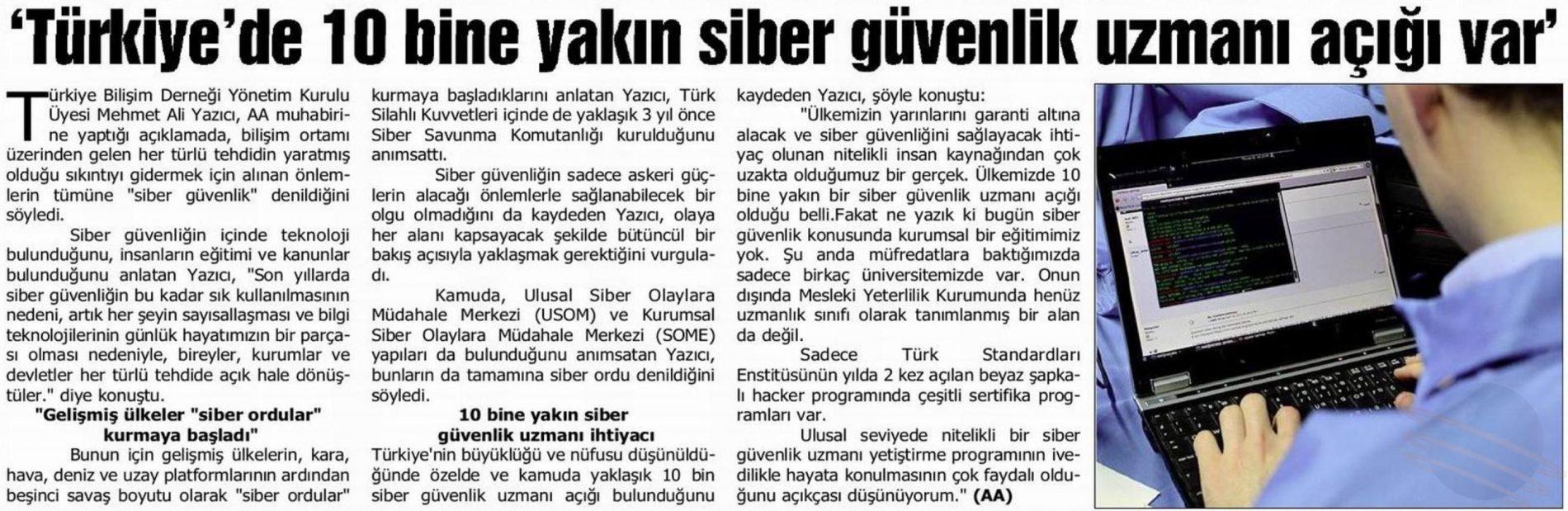 Türkiye'de 10 Bine Yakın Siber Güvenlik Uzmanı Açığı Var – AA
