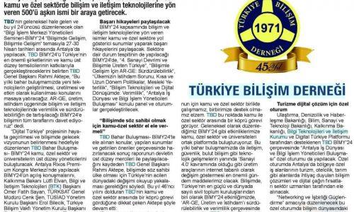 Türkiye'nin Gündemi Bilişim Olacak – Ticari Hayat
