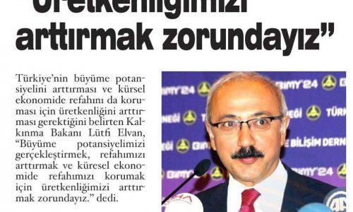 Üretkenliğimizi Arttırmak Zorundayız – Antalya Son Haber