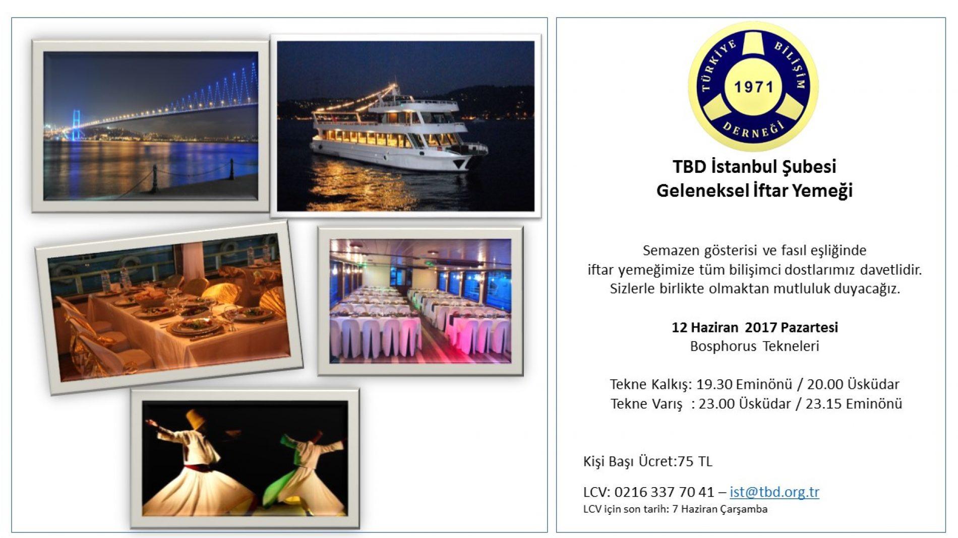TBD İstanbul Şubesi Geleneksel İftar Yemeği