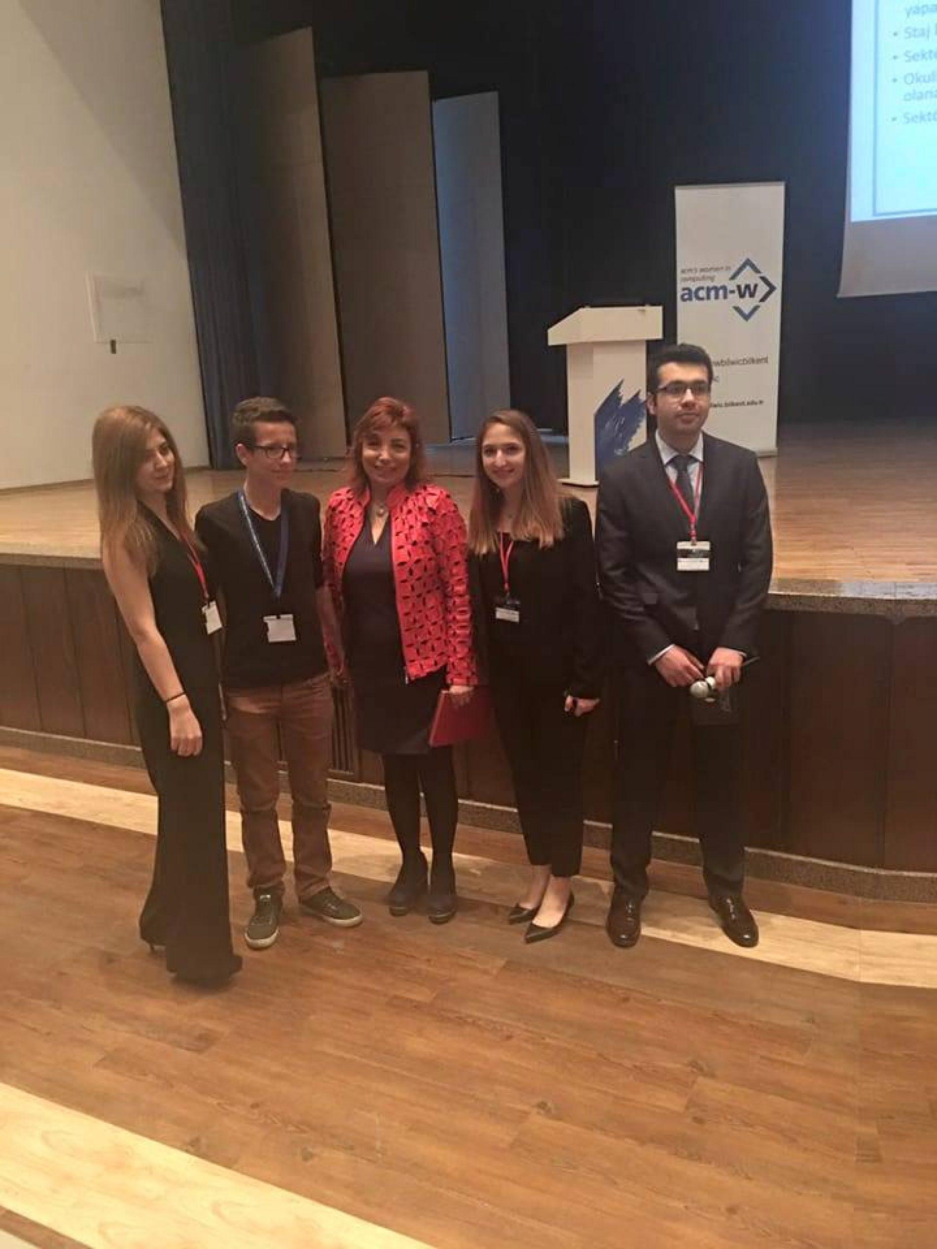 TBD Ankara Şubesi Başkanı Nurcan Sunay Gençlere İş Hayatını ve Bilişim Kariyerini Anlattı.