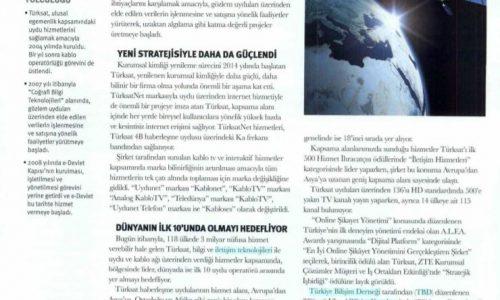 """Dünyada ilk 10'u hedefliyor – DÜNYA GAZETESİ """"Türkiye'nin Lider ve Yükselen Markaları"""" Özel Eki"""