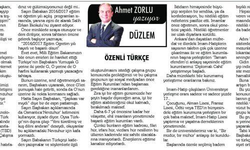 Özenli Türkçe – KAYSERİ OLAY