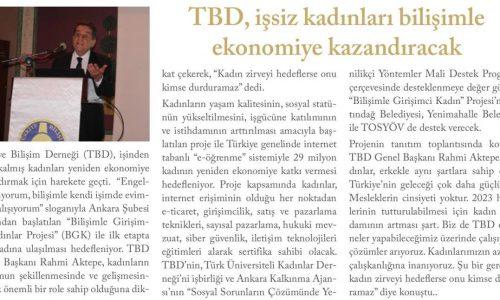 TBD, İşsiz Kadınları Bilişimle Ekonomiye Kazandıracak – Call Center Life