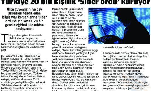 Türkiye 20 Bin Kişilik 'Siber Ordu' Kuruyor – YENİ AFŞİN