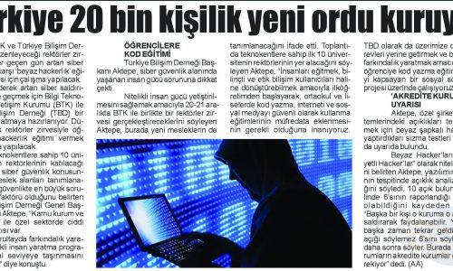 Türkiye 20 Bin Kişilik Yeni Ordu Kuruyor – SİVAS GAZETESİ