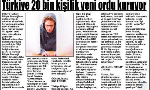 Türkiye 20 Bin Kişilik Yeni Ordu Kuruyor – GEMLİK GAZETESİ