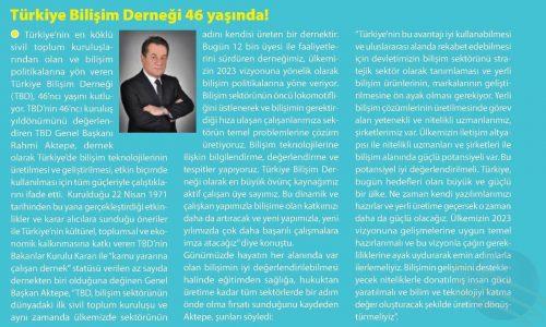 Türkiye Bilişim Derneği 46 Yaşında – E-BELEDİYE DERGİSİ