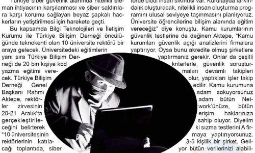 Yerli ve Milli Hacker'lar Geliyor – Doğruyol Gazetesi