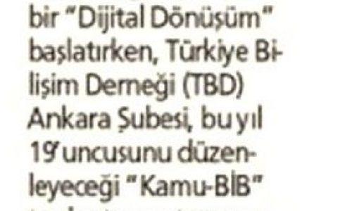 """Kamu-BİB'19 """"Dijital Devlet"""" İçin Toplanacak – YENİ AKİT"""