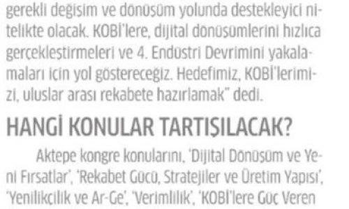 KOBİ'leri Atağa Kaldıracak Kongre – Star Gazetesi