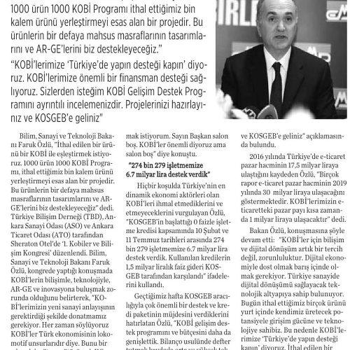 1. Kobiler ve Bilişim Kongresi 'Türkiye'de Yapın Desteği Kapın' – KASTAMANU