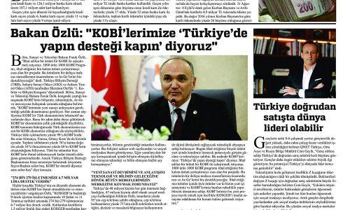 """Bakan Özlü: """"KOBİ'lerimize 'Türkiye'de Yapın Desteği Kapın' Diyoruz"""" – HAKİMİYET"""