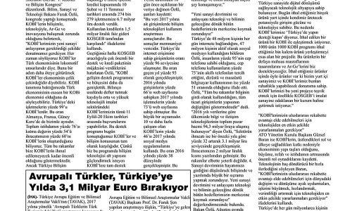 """Bakan Özlü: """"KOBİ'lerimize 'Türkiye'de Yapın Desteği Kapın' Diyoruz"""" – TATVAN SESİ"""