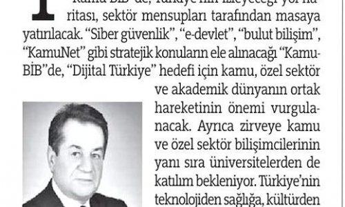 Bilişim, Türkiye İçin Artık Bir Beka Sorunu – TÜRKİYE GAZETESİ