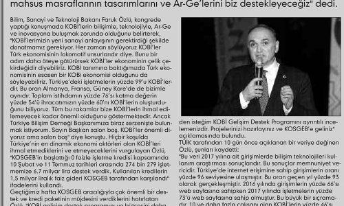 'Türkiye'de Yapın Desteği Kapın' – ÜLKER KAYSERİ