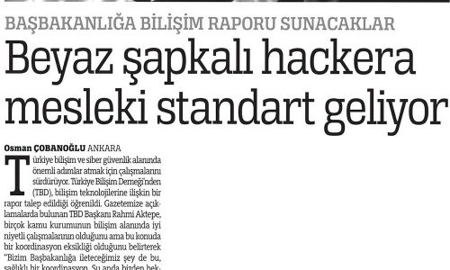 Beyaz Şapkalı Hackera Mesleki Standart Geliyor – TÜRKİYE GAZETESİ