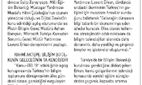 Dijital Türkiye Hedefi – KAYSERİ ANADOLU HABER