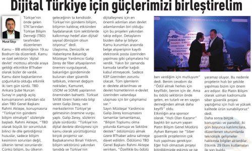 Dijital Türkiye İçin Güçlerimizi Birleştirelim – BT HABER