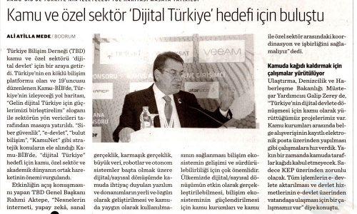 Kamu ve Özel Sektör 'Dijital Türkiye' Hedefi İçin Buluştu – DÜNYA GAZETESİ