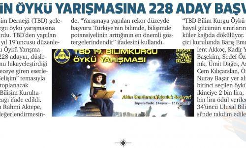 TBD'nin Öykü Yarışmasına 228 Aday Başvurdu – SANCAK GAZETESİ