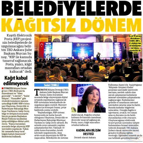 BASINDA TBD: Hürriyet Ankara