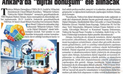 """Ankara'da """"Dijital Dönüşüm"""" Ele Alınacak – ANKARA BAŞKENT"""
