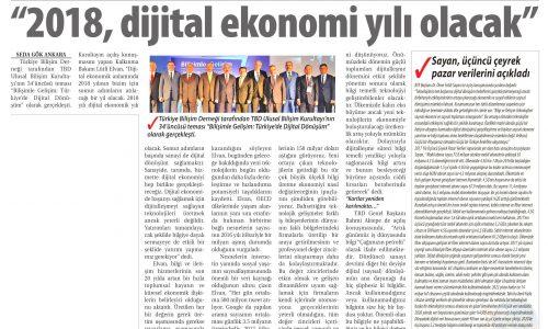"""""""2018, Dijital Ekonomi Yılı Olacak"""" – TİCARET GAZETESİ"""