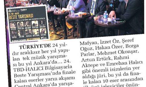 Beste Yarışması Başkent Ankara'da – SABAH ANKARA