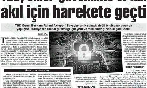 TBD, Siber Güvenlikte Ortak Akıl İçin Harekete Geçti – ANKARA BAŞKENT