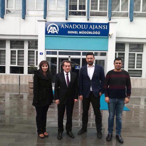 TBD Genel Başkanı Rahmi Aktepe Anadolu Ajansını Ziyaret Etti