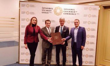 TBD Genel Başkanı Rahmi Aktepe ve TBD İstanbul Şubesi Yönetim Kurulu Başkanı Deniz Tiryakioğlu İTO Yönetim Kurulu Üyesi İlhan Soylu'yu Ziyaret Etti