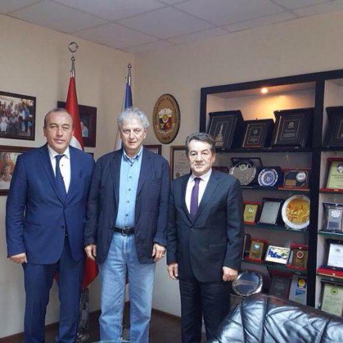 TBD Genel Başkanı Rahmi Aktepe EBSO Yönetim Kurulu Başkanı Ender Yorgancılar'ı Ziyaret Etti
