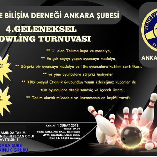 TBD Ankara Şıbei 4. üncü Geleneksel Bowling Turnavası
