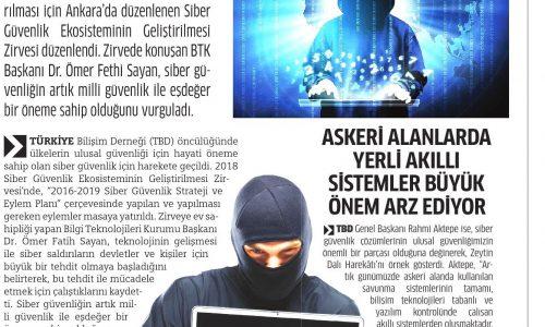 Siber Güvenlik, Milli Güvenlik ile Eşdeğer – MİLLİ GAZETE
