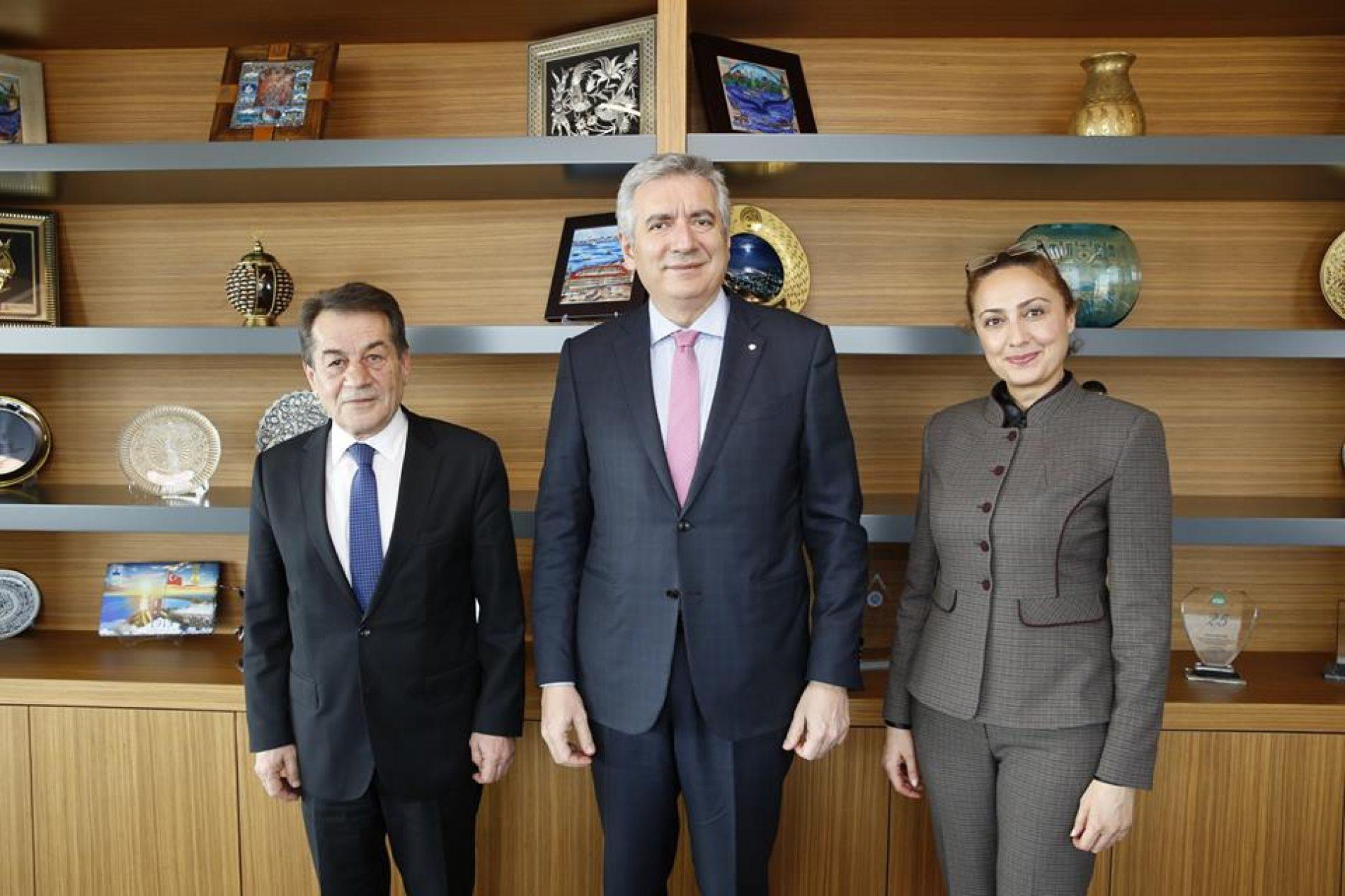 TBD Genel Başkanı Rahmi Aktepe ve TBD İstanbul Şubesi Yönetim Kurulu Başkanı Deniz Tiryakioğlu İSO Başkanı Erdal Bahçıvan'ı Ziyaret Etti