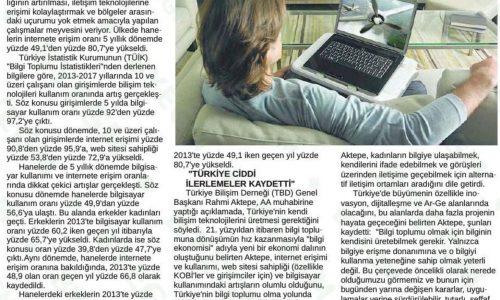 Türkiye'nin Bilgisayar Kullanım Oranı Yüzde 97,2'ye Çıktı – ANKARA 24 SAAT