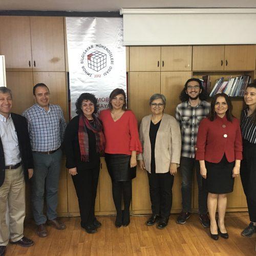 TBD Ankara Şubesi Yönetim Kurulu Bilgisayar Mühendisleri Odasını ziyaret etti.