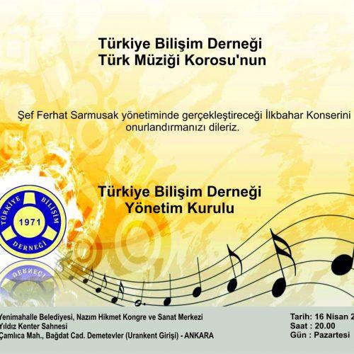TBD Türk Müziği Korusu'na Davetlisiniz!